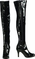 Secret Wishes Thigh-High Boots With Stiletto Heels
