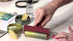 How to Brayer With Stamp Paint for Papercrafting & Cardmaking - Heartfel...