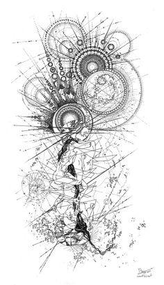 Zeichnungen - Graphische Zeichnungen -Graphische Zeichnungen - Graphic drawings – BOP – Creative Graphic drawings – BOP – Creative Gearing 🔘📽⚙️ Design for tomorrow! Illustration art life design nature biology WIP or… – masa tattooer( Tattoo Drawings, Body Art Tattoos, My Drawings, Sleeve Tattoos, Space Tattoos, Orianna League Of Legends, Geometry Art, Grafik Design, Compass Tattoo