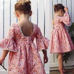 Cute Toddler Kid Baby Girl Long Sleeve Floral Party Princess Boho Pageant Dress , Best Picture For pageant dresses for kids For Your Taste You are looking for something, and it is going to tell you exactly what you are looking for, and you didn't[. Fashion Kids, Toddler Fashion, Fashion 2020, Fashion Trends, Fashion Design, Baby Girl Party Dresses, Toddler Girl Dresses, Girls Dresses Sewing, Toddler Girls