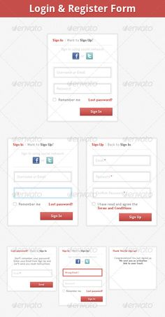 I present you Clean and Detailed Login & Register Form. Everything is layerd and well organized.Files Included: 8 PSD Files: Sign