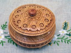 Jewelry box Wooden box Ring box Carved wood box Wedding gifts Jewellery box Wood carving Wood boxes Jewelry boxes Wooden boxes B24. $40.00, via Etsy.