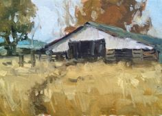 Study, Sweet Potato Farm, painting by artist David Boyd, Jr