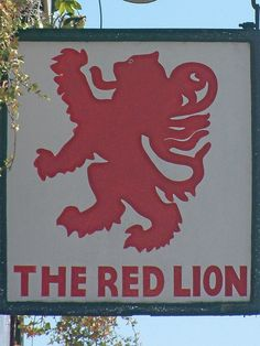 Red Lion Pub Sign, High Wycombe by Thorskegga, via Flickr