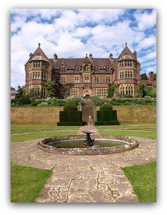 Knighthayes Court, Devon, England. Designed by William Burges in 1869 Gothic Revival house