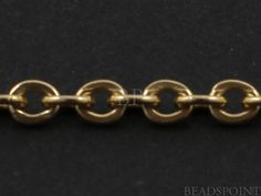 14k Gold Filled Oval Cable Chain Heavy Weight Flat by Beadspoint, $12.99