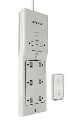 Belkin 8-Outlet Conserve Switch Surge Protector with 4-Foot Cord and Remote, F7C01008q