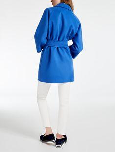 "Wool and cashmere heavy jacket, cornflower blue - ""ELIGIO"" Max Mara"