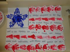 Cute idea to do with the kids for the 4th of July! Easy to do at daycare with the infants and toddlers.