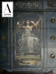 How To Use an Image Transfer to Transform Vintage Furniture   Paint, glaze, wax and one stunning image transfer can improve a flea market find into a one-of-a-kind piece for cheap!