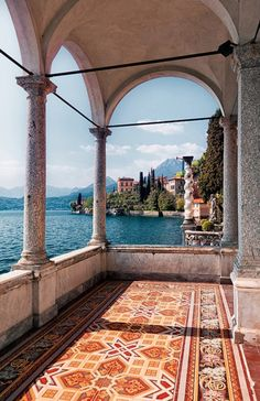 The veranda of an old villa has fabulous views of Lake Como and surrounding villages. From Wiki: Lake Como is a lake of glacial origin in Lombardy, Italy. Lake Como has been a popular retreat for…More Oh The Places You'll Go, Places To Travel, Travel Destinations, Places To Visit, Europe Places, Comer See, Lake Como Italy, Voyage Europe, Destination Voyage