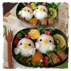Bento de pollo (Japonés) / chicken (Japanese) Bento