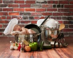 newborn photography, chef, baby boy, long island