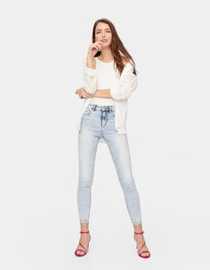 Denim skinny push up - null Push Up, Capri Pants, Skinny Jeans, Outfits, Denim, Collection, Woman, Spring, Fashion