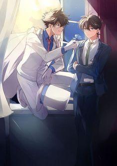 Ran And Shinichi, Kudo Shinichi, Otaku Anime, Anime Guys, Detective Conan Gin, Detektif Conan, Detective Conan Wallpapers, Kaito Kid, Magic Kaito