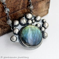 xX ON SALE Xx Sterling silver and Labradorite por gemheaven en Etsy