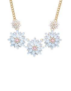 ALDO Siegelman Flower Overlay Necklace