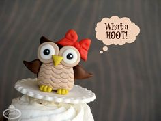 Guess WHOO's Coming to Dinner: Owl Fondant Topper Tutorial