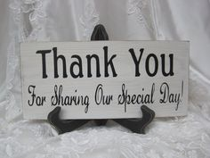 Rustic Wedding Sign Thank You Special Day by dlightfuldesigns