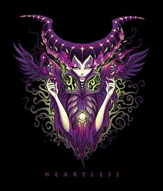 Heartless by Jehsee Maleficent Sleeping Beauty Canvas Fine Art Print –…