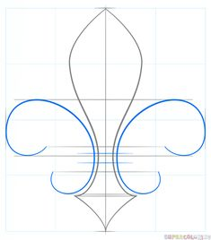 Easy Drawings How to draw a Fleur-de-Lis step by step. Drawing tutorials for kids and beginners. Easy Drawing Tutorial, Drawing Tutorials For Kids, Drawing Tips, Craft Tutorials, Beginner Drawing, Sketching Tips, Lilies Drawing, Ornament Drawing, Cute Coloring Pages