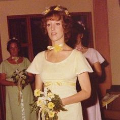 Striking photo of my mother. #70s #bridesmaid