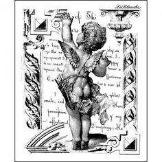 LaBlanche Silicone Stamp - Waving Cherub - Craft Obsessions