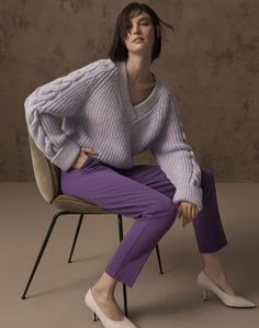 Marks & Spencer's autumn/winter 2018 collection is full of colour - but you should beeline for the shoes. Read the Vogue verdict here Modest Fashion, Fashion Outfits, Fashion Tips, Fashion Trends, Knit Fashion, Sweater Fashion, Pullover Mode, Vogue, Winter Mode