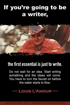 One of the world's most popular writers, at the time of Louis L'Amour's death, almost all of his 105 works (89 novels, 14 short-story collections, 2 nonfiction) were still in print with multiple printings. #western #texburns #writingadvice #authorquote #writinginspiration
