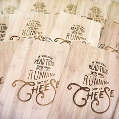 SALE: Laser Engraved Cheese Platter  Serving Platter by TheLaserCo