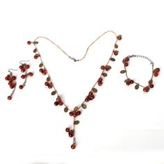 2015 New Fashion Women Necklace   Beautiful Red cherries Necklace Pendant earrings bracelet bangles Jewelry For women JXB299-in Pendant Necklaces from Jewelry & Accessories on Aliexpress.com | Alibaba Group