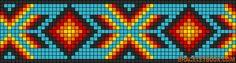 Free Native American Beadwork Patterns | Patterns - Alpha - Friendship Bracelet Pattern #8380