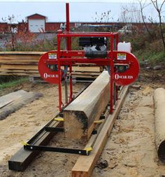 Hud-Son Oscar 428 Portable Sawmill Band Mill Comes Completely Assembled. Lumber Mill, Wood Mill, Homemade Chainsaw Mill, Portable Saw Mill, Custom Bbq Pits, Bandsaw Mill, Mobile Workbench, Homemade Tools, Wood Slab