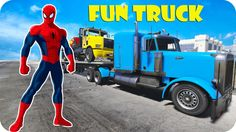 FUNNY TRUCK !!! With SPIDERMAN & Lightning MCqueen Car l Nursery Rhymes Kid Songs