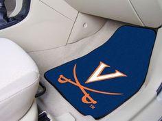 """Virginia 2-piece Carpeted Car Mats 17""""x27"""""""