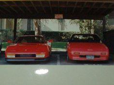 Ferrari vs Toyota.  Both red.  Both mid engine.  Practically identical!