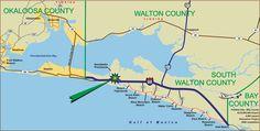 walton county florida map - Google Search