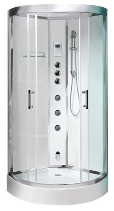 1000 images about corner steam shower cabins on pinterest for Fully enclosed shower