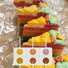 Rainbow cake Soap by Sheloves Soap, Rainbow, Breakfast, Cake, Pie Cake, Rainbows, Pastel, Rain Bow, Cakes