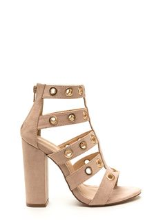 Hole-d It Together Chunky Caged Heels