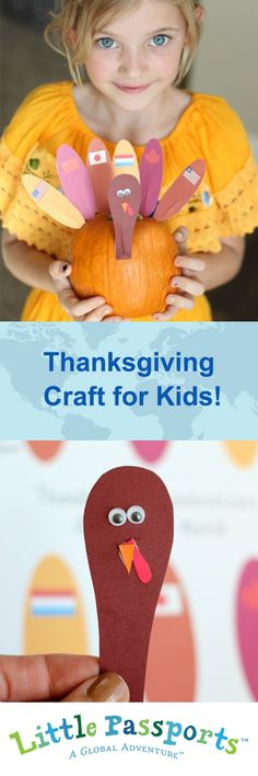 Get crafty with our easy 4-step guide to making a #Thanksgiving around the world turkey. | LittlePassports