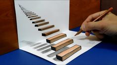 How to draw - Stairway to Heaven - 3D Trick Art on Paper