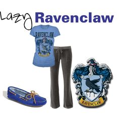 Lazy Ravenclaw, created by nearlysamantha on Polyvore