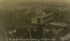 There were 2 Incline Railways that operated in Hamilton from the to the This is the James Street South one. Hamilton Ontario Canada, The Province, Old Pictures, Paris Skyline, History, Ancestry, City, Places, Favorite Things