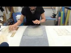 Cracked Mud Wet Felting Technique - YouTube