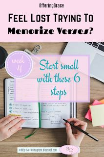 Offering Grace: 6 Steps To Memorize Long Passages | Is memorizing verses something that you would like to do but nothing seems to work? Have you tried to memorize longer passages of verses? | Bible Encouragement | Bible Verses | 30 Day Bible Reading/Writing Plan | Bible Reading Plan | Faith | Free Printable | How to | Memorization | #bibleencouragement | #verses | #30daybiblereadingplan | #memorization | #scripturememorization | #sharinglifesstruggles Marriage Bible Verses, Bible Verses About Faith, Encouraging Bible Verses, Bible Encouragement, Feeling Lost, How Are You Feeling, When You Feel Lost, Writing Plan, Scripture Memorization