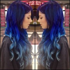 Complete color makeover with extensions. Custom Pravana Vivids ombre