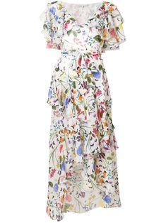 Borgo De Nor floral print frill dress Day Dresses, Dresses For Sale, Floral Dresses, Fall Outfits, Fashion Outfits, Girly Outfits, Modest Fashion, Casual Trends, Frill Dress
