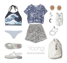 """""""Beach Outfit / BTS"""" by youaremorethanbeautiful ❤ liked on Polyvore featuring Motel, River Island, Rittenhouse, Kenzo, Wildfox, Kill Star and American Apparel"""
