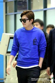 02-04-2015 Lee Min Ho Incheon Airport return from Hong Kong.